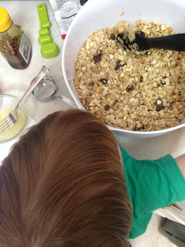 homemade granola little helper