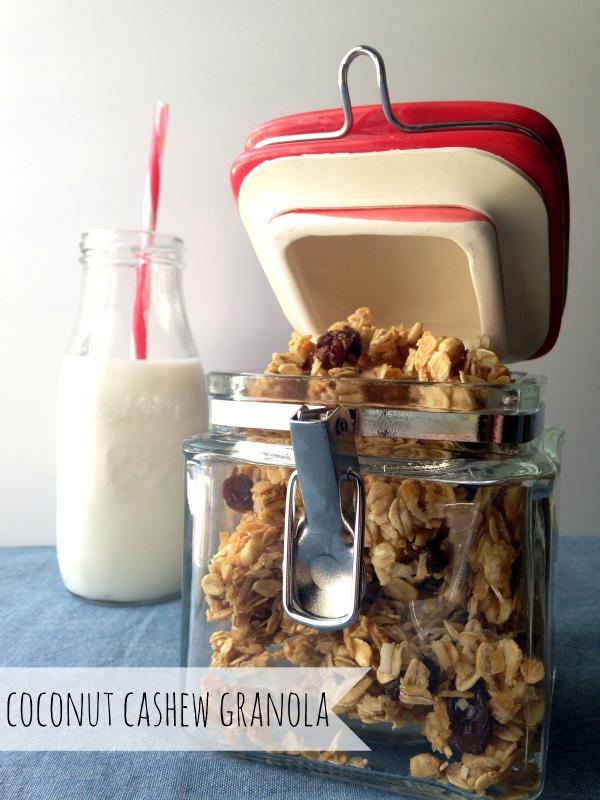 coconut cashew granola