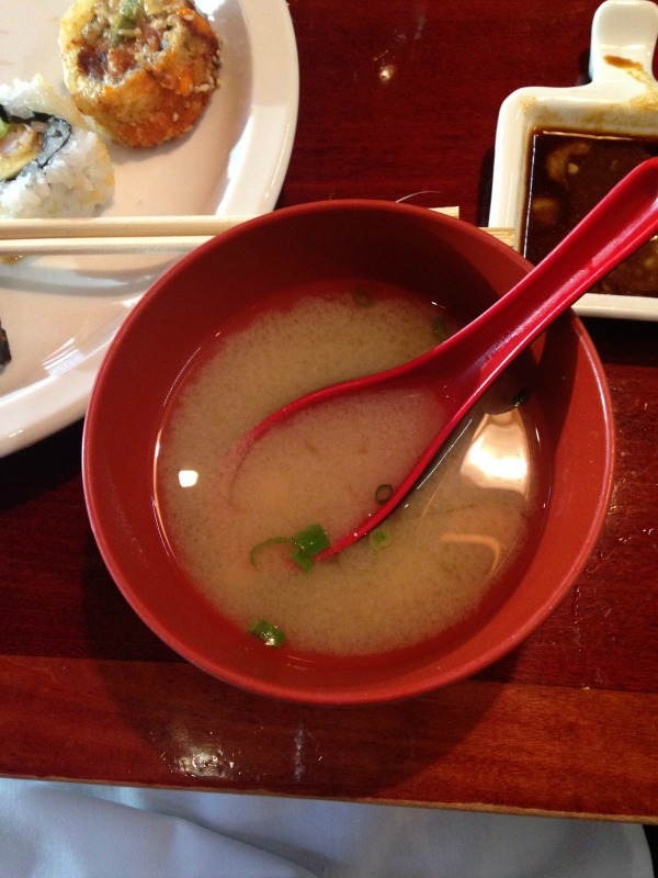 the best miso soup I've ever had!